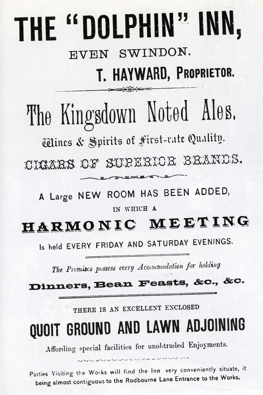 Rodbourne Road, The Dolphin Public House, Advertisement 1884