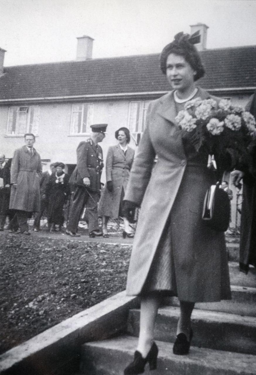 Akers Way, Moredon, Princess Elizabeths visit, 1950