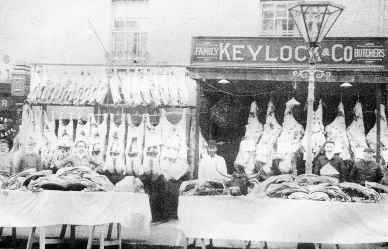 Wood Street, No.17 Keylock & Co Butchers, 1897