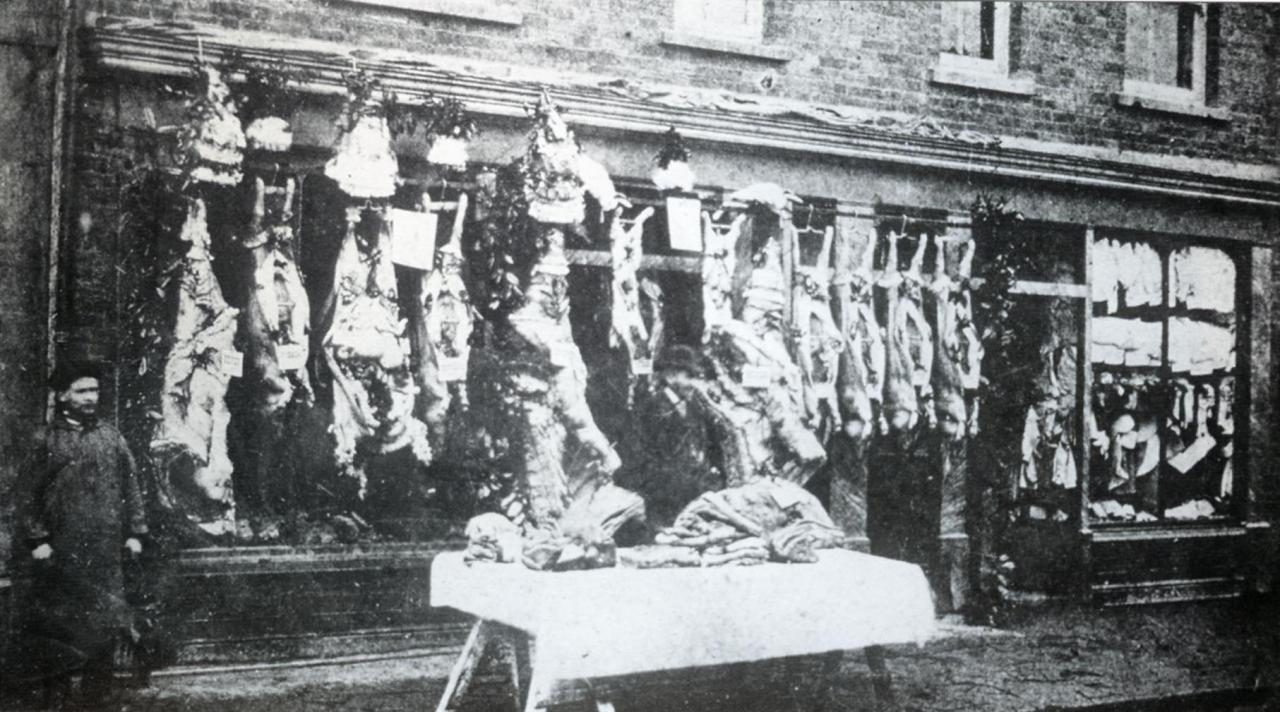 Bridge Street - Gory display, John Hill Butchers 1873