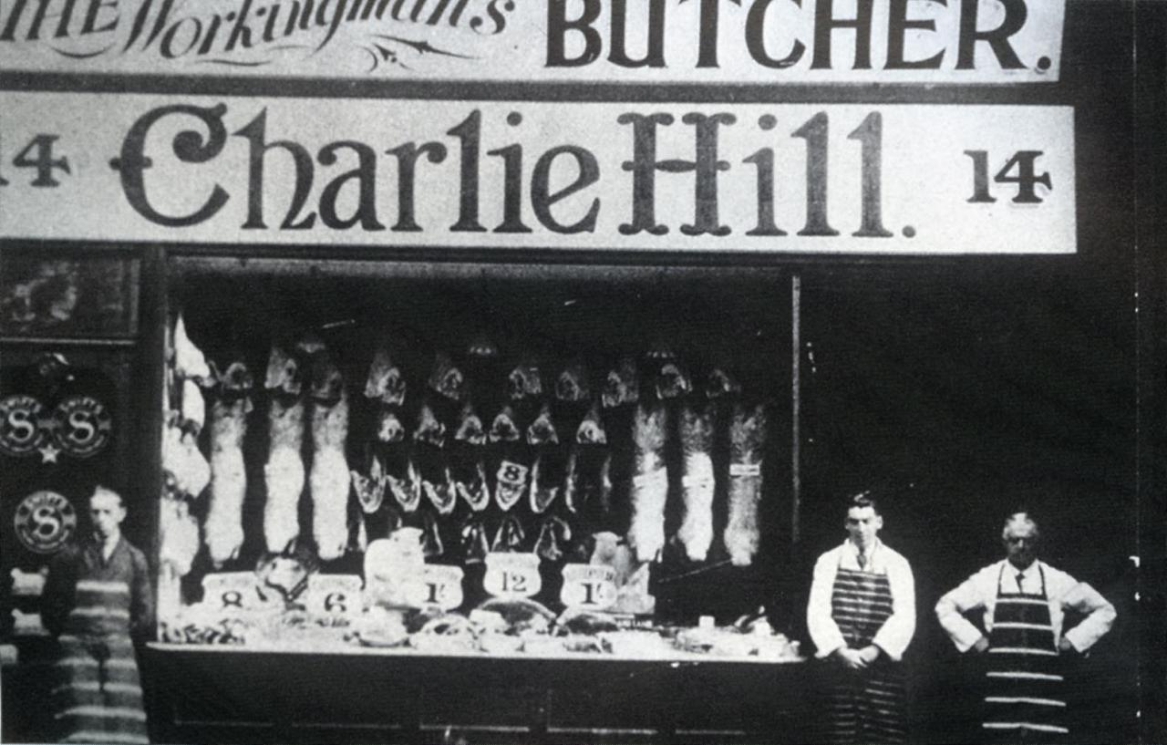 Fleet Street - Charlie Hill The Workingmans Butcher 1934