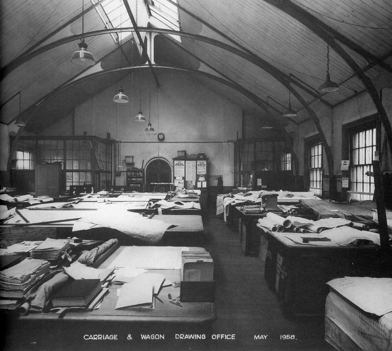 GWR, Carriage & Wagon works Drawing Office